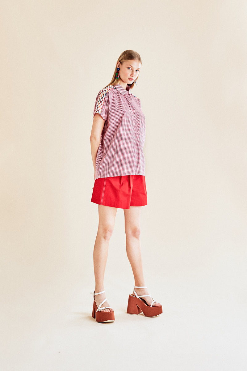 Chemise vichy rouge