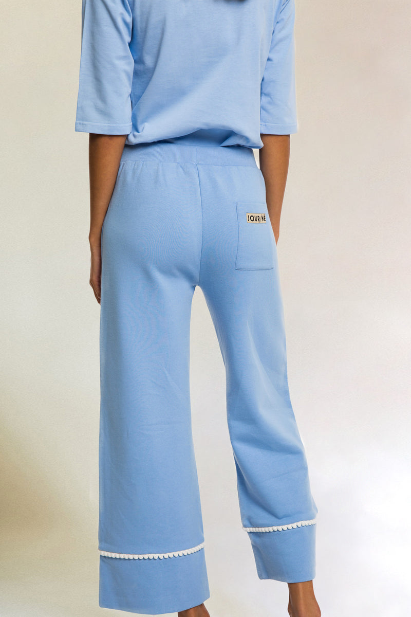 Pantalon molleton casual baby blue