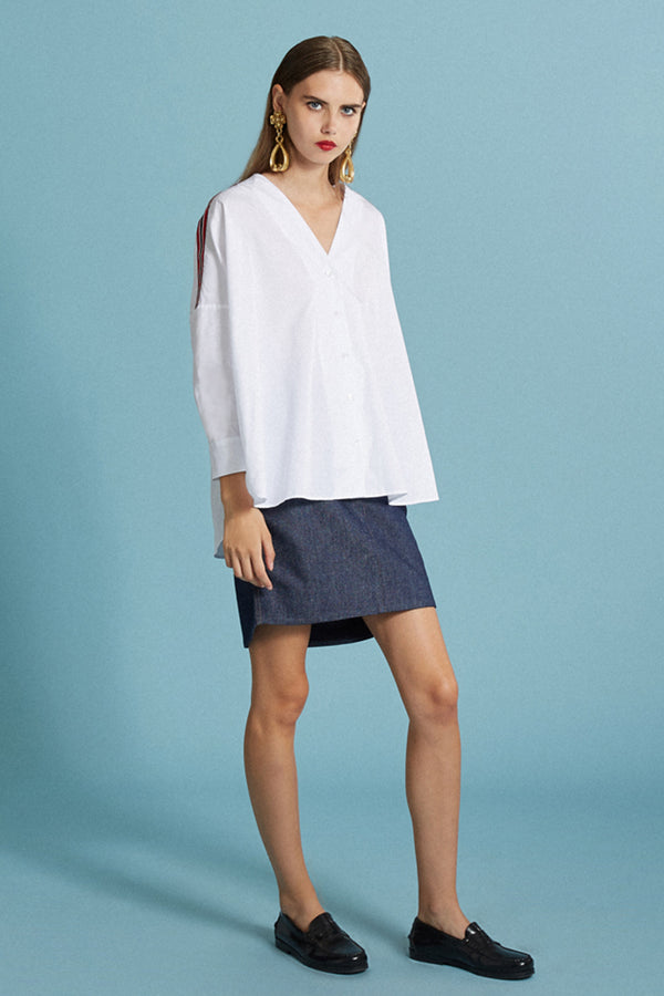 Chemise blanche oversize