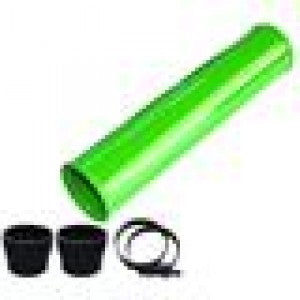 "Pusher 12VS1GICHP 3"" Passenger Side Intercooler Pipe, Pusher Green w/ Black Couplers"