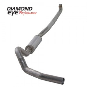 "Diamond Eye 4"" Stainless Steel Turbo Direct Pipe Back Single Outlet Exhaust"