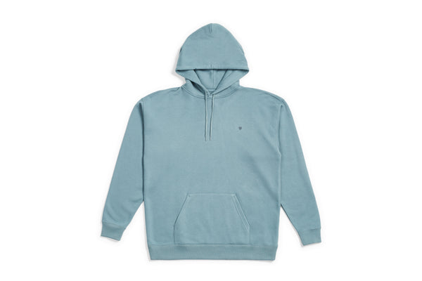 Brixton B-SHIELD HOOD FLEECE - BLUE HAZE