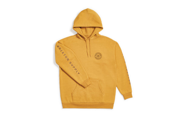 Brixton OATH IV HOOD FLEECE - MAIZE