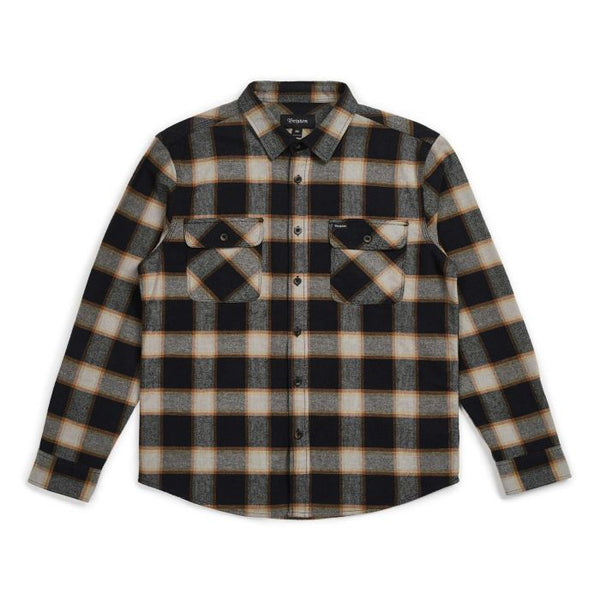 BOWERY L/S FLANNEL - BLACK/CREAM