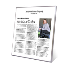 RTD Article Plaques - Modern Archival Plaque with Colored Edge