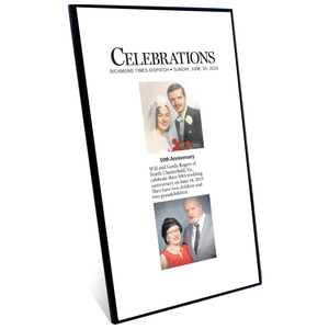 RTD Celebrations Plaques - Modern Archival Plaque with Black Edge