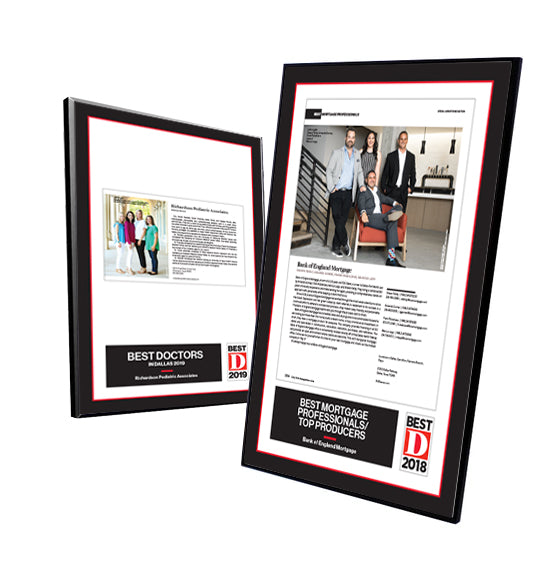 D Magazine Traditional Modern Mount Plaques