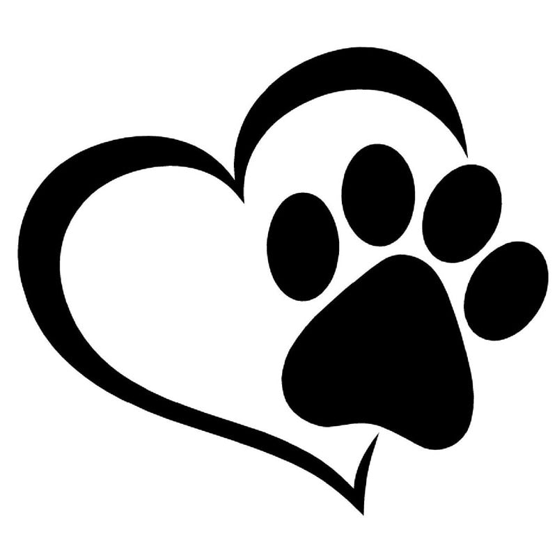 Heart and Paw Vinyl Sticker