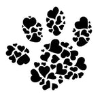 Paw and Hearts Vinyl Sticker