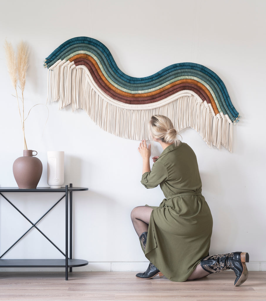 The Woman Behind The Macramé Wall Hangings | Teddy and Wool