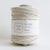 "Teddy and Wool Cotton Cord Twisted Macrame cord 4 MM (490 or 1000 feet) - ""Ivory White"""