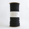 "Teddy and Wool Cotton Cord Twisted Macrame Cord 6 MM - ""Charcoal Black"""