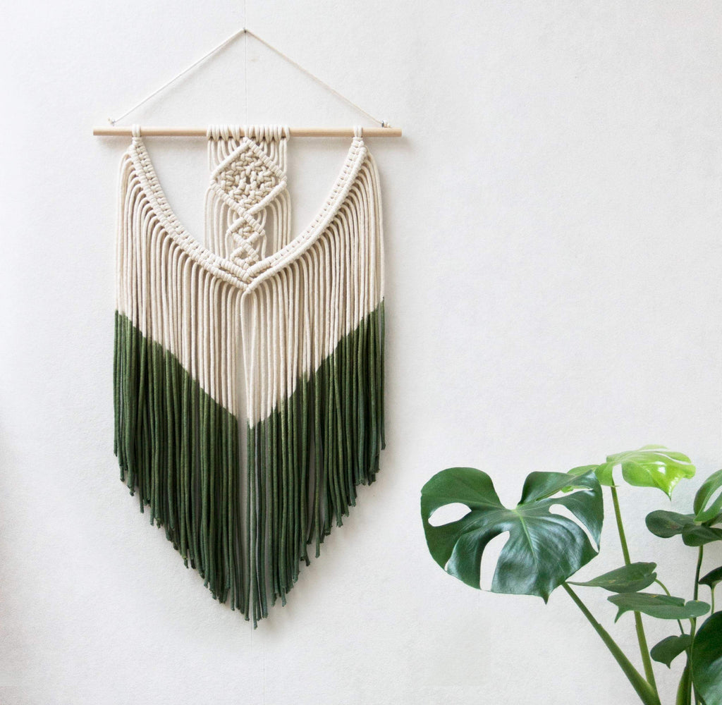 "Teddy and Wool Fiber Art Small Macrame Wall Hanging - ""INA"""