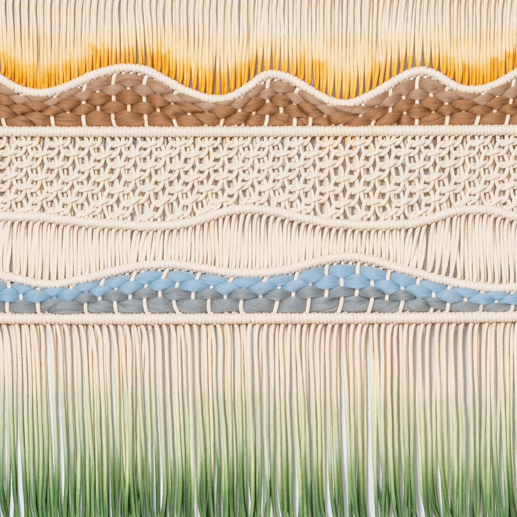Big Handwoven Wall Hanging - Hand dyed Wall Art - Macrame Wall Hanging - Textile Artwork - JANE