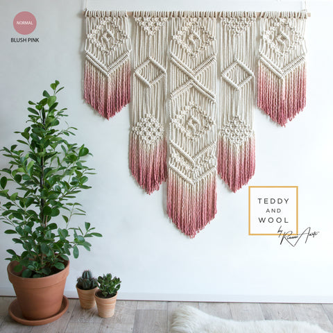 "Macrame Wall Hanging with a stunning dyed gradient - ""ISA"""