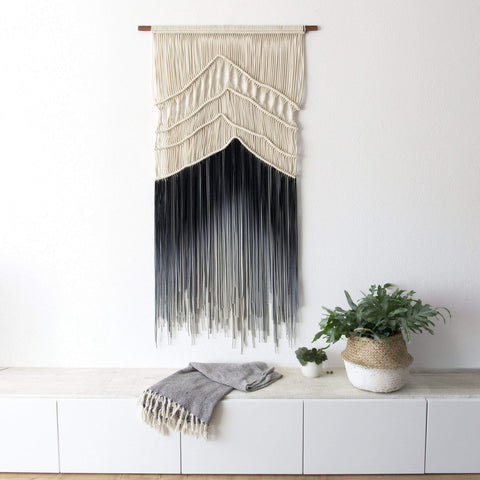 "Teddy and Wool Large wall hanging ""FROZEN MOUNTAINS"" - Organic Collection"