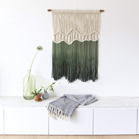 "Teddy and Wool Wall hanging  ""Deep Roots"" - Organic Collection"