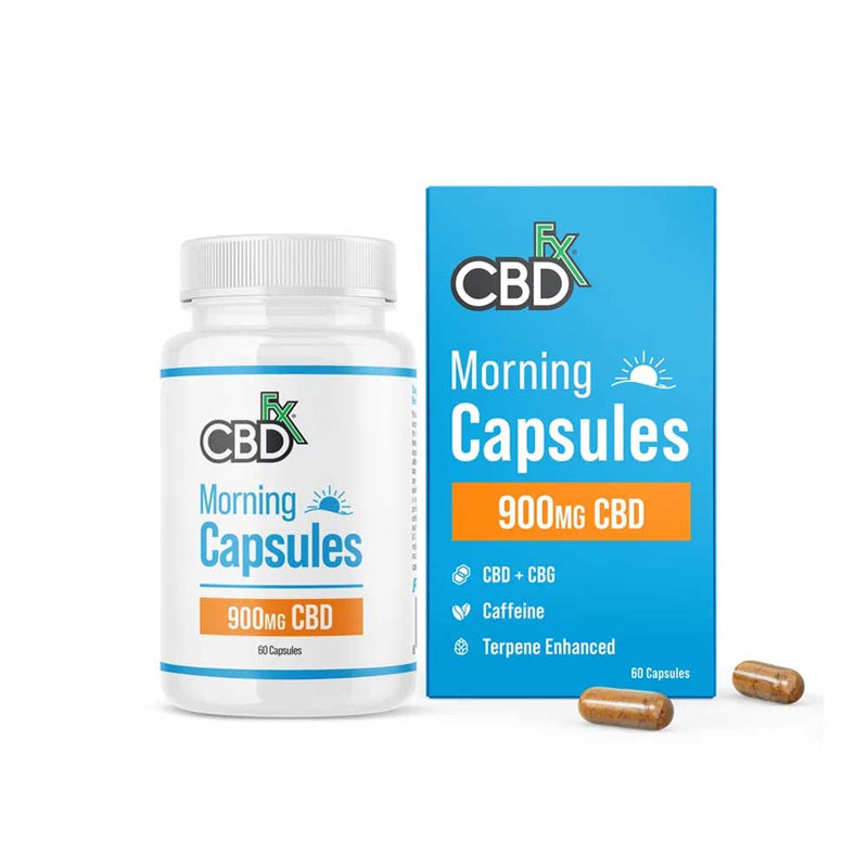 CBDfx - CBD + CBG Morning Capsules - 900mg