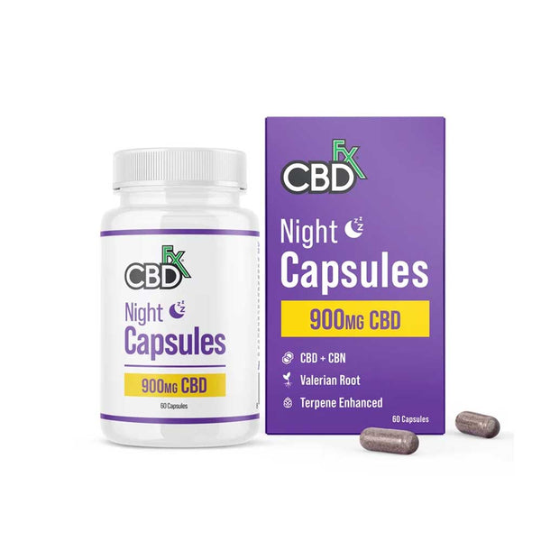 CBDfx - CBD + CBN Night Capsules For Sleep - 900mg