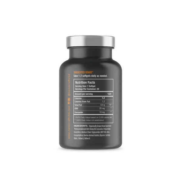 NanoCraft - Full Spectrum CBD Oil Softgels with Curcumin