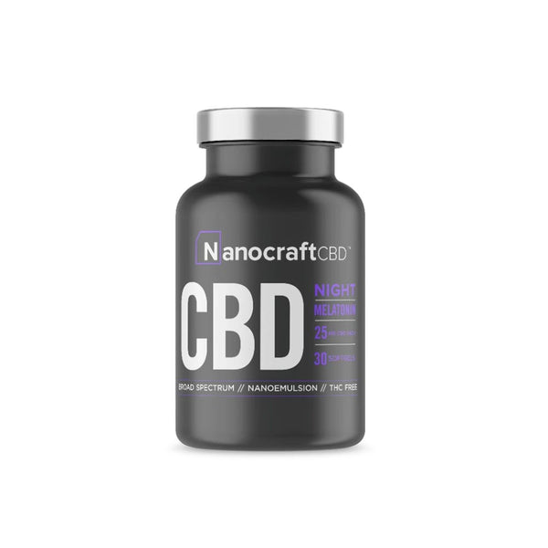 NanoCraft - Full Spectrum CBD Oil Softgels with Melatonin