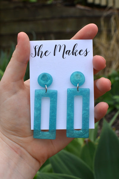 Blue Retro Dangles