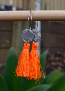 Fluro Orange Tassels