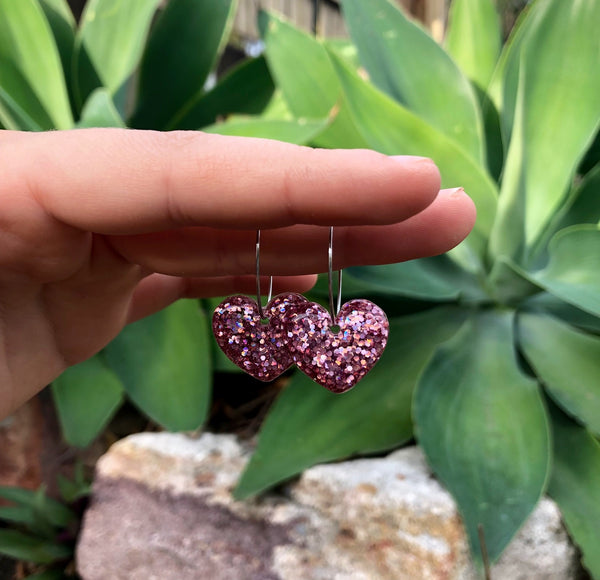 Simple Holographic Pink Hearts
