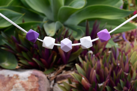 Purple Hexagonal Necklace