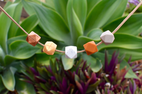 Earthy Hexagonal Necklace