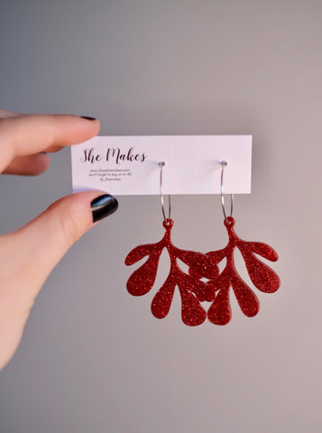Red Leafy Dangles