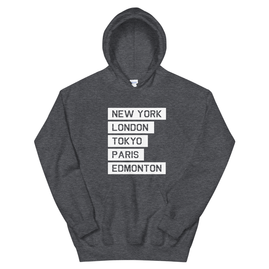 NEW YORK LONDON EDMONTON HOODIE - The YEGERS