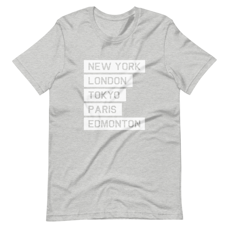 NEW YORK LONDON EDMONTON TEE - The YEGERS