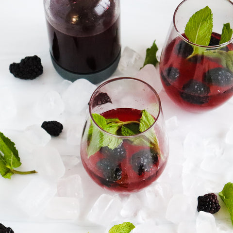 Blackberry mimosa cocktail recipe