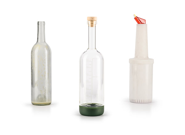 Cocktail Shaker Simple Syrup Bottle Cocktail Shaker Bar Supply Restaurant Supply Stow and Flow Store Pour Cocktail Ingredients