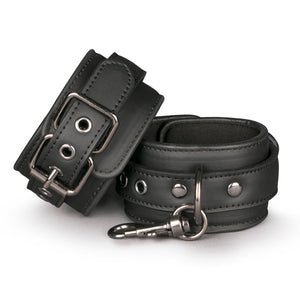 Black Leather Handcuffs - Upphetsad