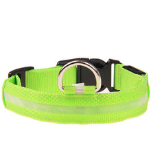 Dogbaby Safety Small Pet Collar For Lighted Up Nylon Solid LED Glowing dog collars Pet supplies 18-27cm Length 2017 Dog leash