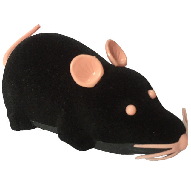 Remote Control Plush Mouse  Black/Grey/Brown Funny Pet Cat Toys.