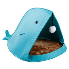 2018 NEW Foldable Dog House Mats Blankets Pet Product Supply Felt Shark Shape Pet Cat Beds Dog House Portable