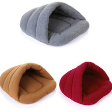 Puppy Cave Bed Pet Sleeping Bag Bed Dog Puppy Bamboo Charcoal Fleece Multifunctional Foldable Warm Cushion Mats Supplies