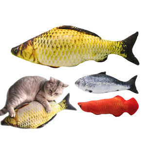 YVYOO  Lovely Artificial Fish shape Plush Pet dog Puppy Cat Toys Sleeping Cushion Fun Toy Cat Mint Catnip Toys 1pcs A19