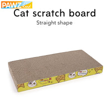 PAWZRoad Cat Toy Kitten Scratching Board Pad Corrugated Paper Durable Catnip Lounge Interactive Toy For Cat Training Pet Product