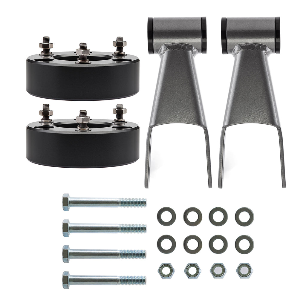 "2004-2020 Nissan Titan 2WD 4WD Full Lift Suspension Kit with Adjustable Rear Shackles-Lift Kit-2""-1"" - 2""-All Roads America"