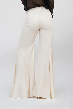 Bell-pants | IN MY CLOTHES | Shop online | premium casual clothing for women | Beige | Trousers | bell-bottoms