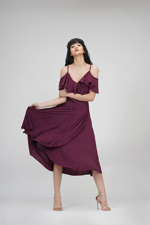 Everyday dresses | IN MY CLOTHES | Wine color | Shop premium women's dresses online |  Evening wear