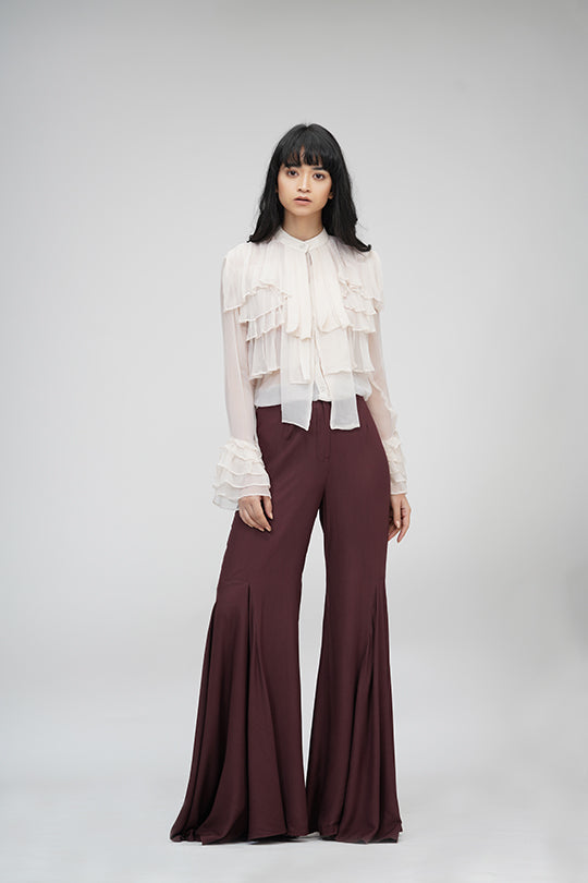 Bell-pants | IN MY CLOTHES | Shop online | premium casual clothing for women | Brown | Trousers | bell-bottoms