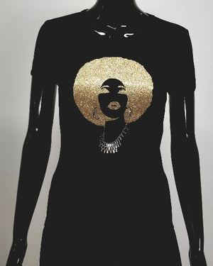 Foxy gold T, for the Disco Diva in you.