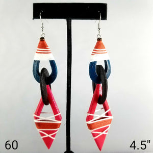 Handmade wooden earrings-Jewelry-SanJules