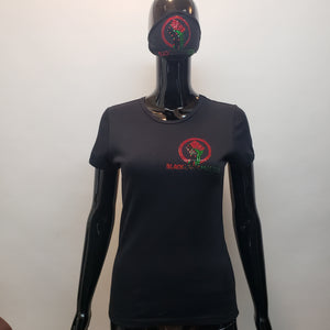 BLM ladies Black power T-T Shirt-SanJules