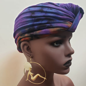 Pin up and Throwback Afro earrings-Jewelry-SanJules